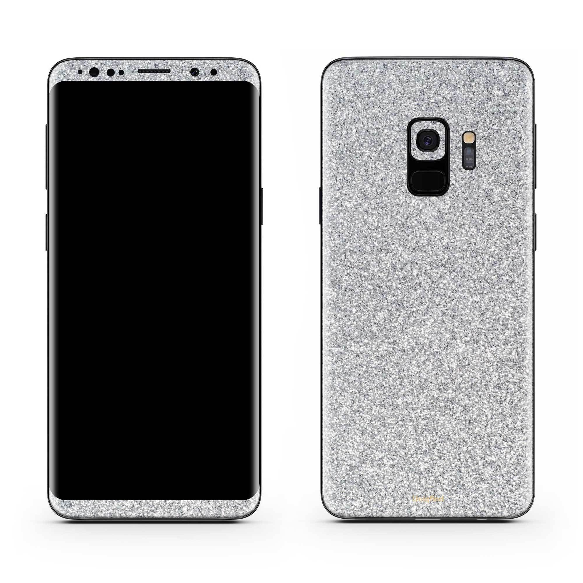 Blanc Glitter Galaxy S9 Plus Skin + Case