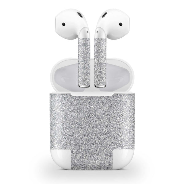 Blanc Glitter AirPods Skin Wireless Charging Case