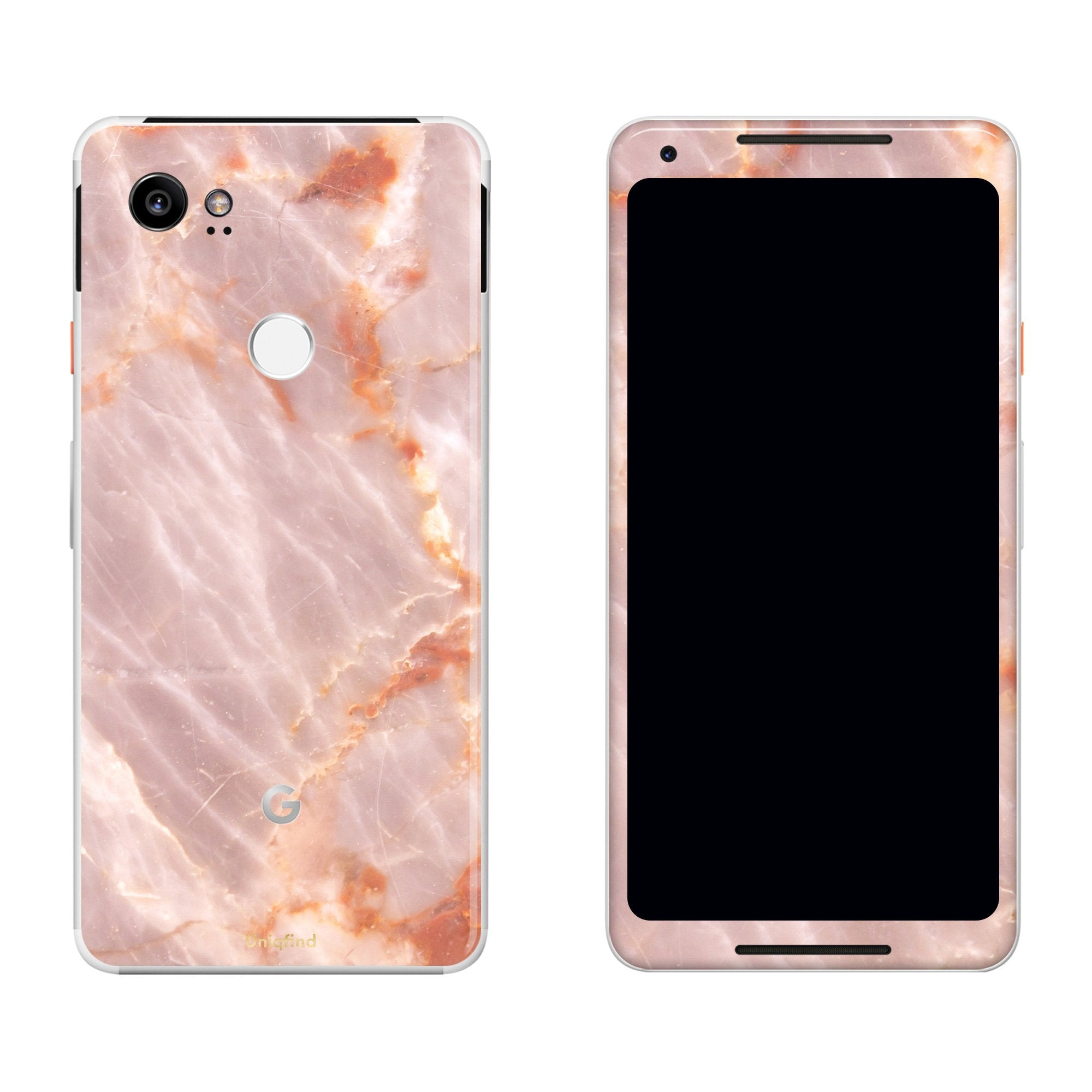 Blush Marble Pixel 2 XL Skin + Case