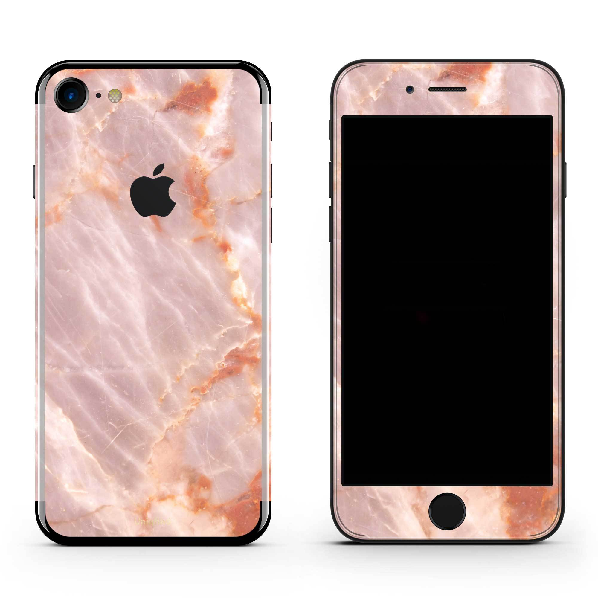 Blush Marble iPhone 8 Plus Skin + Case