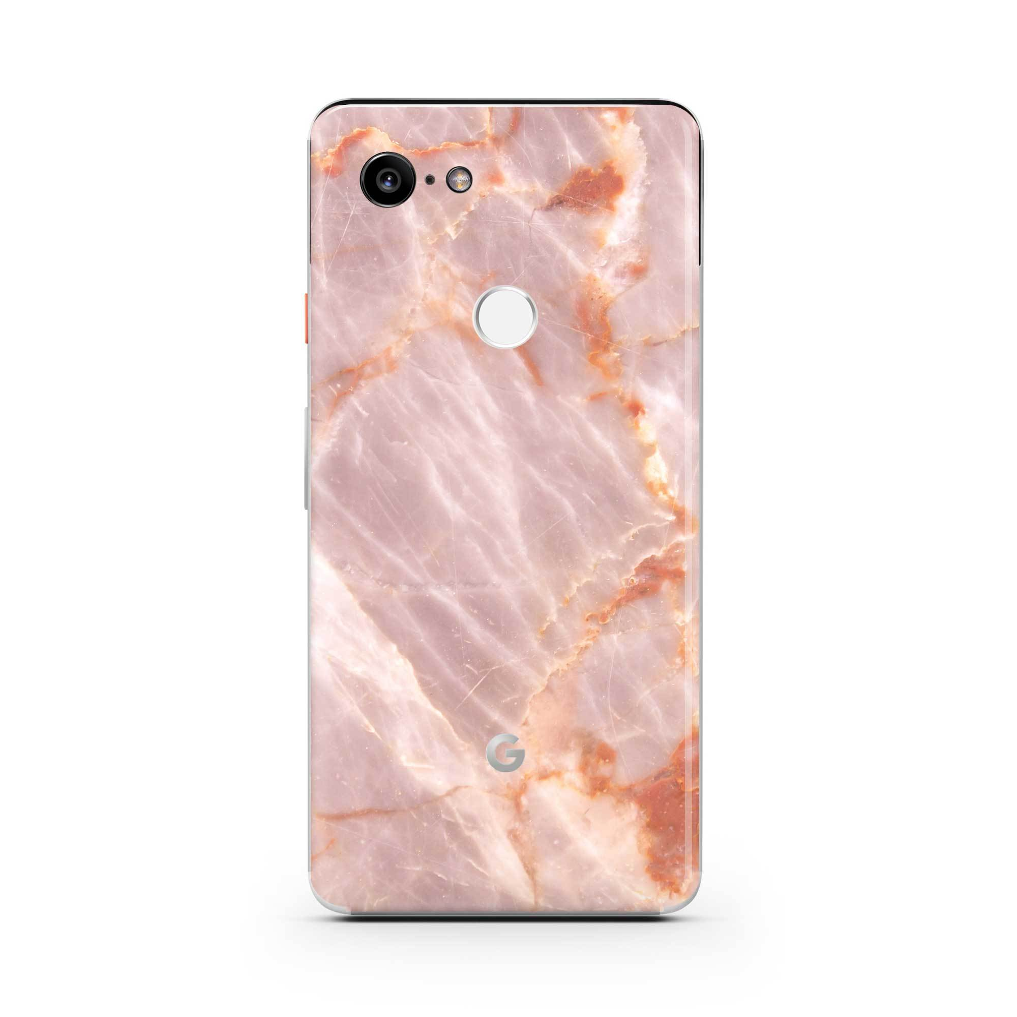 Blush Marble Pixel 3 XL Skin + Case