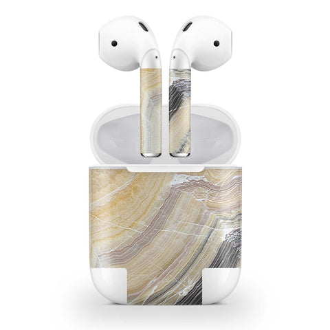 Butter Marble Skin AirPods