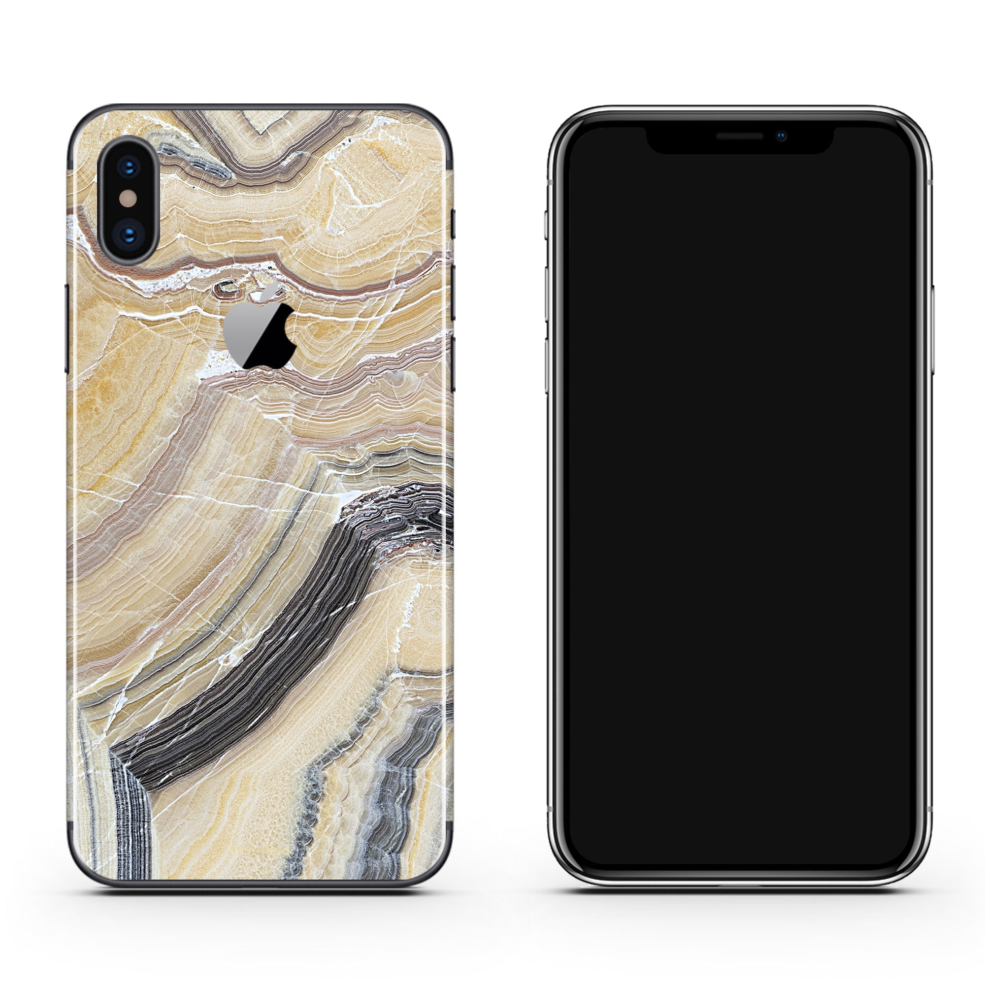 Butter Marble iPhone X Skin