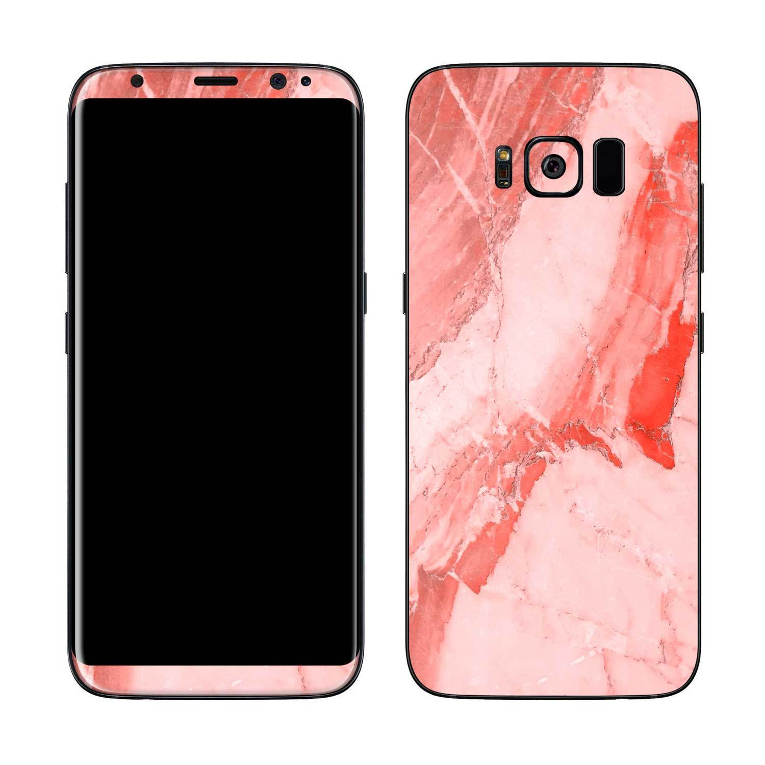 Coral Marble Galaxy S8 Skin + Case