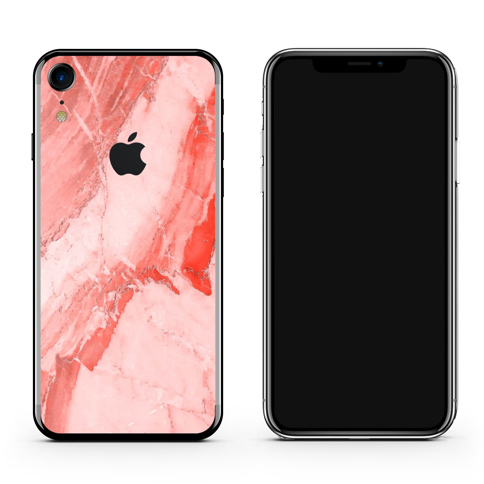 Coral Marble iPhone XR Cover