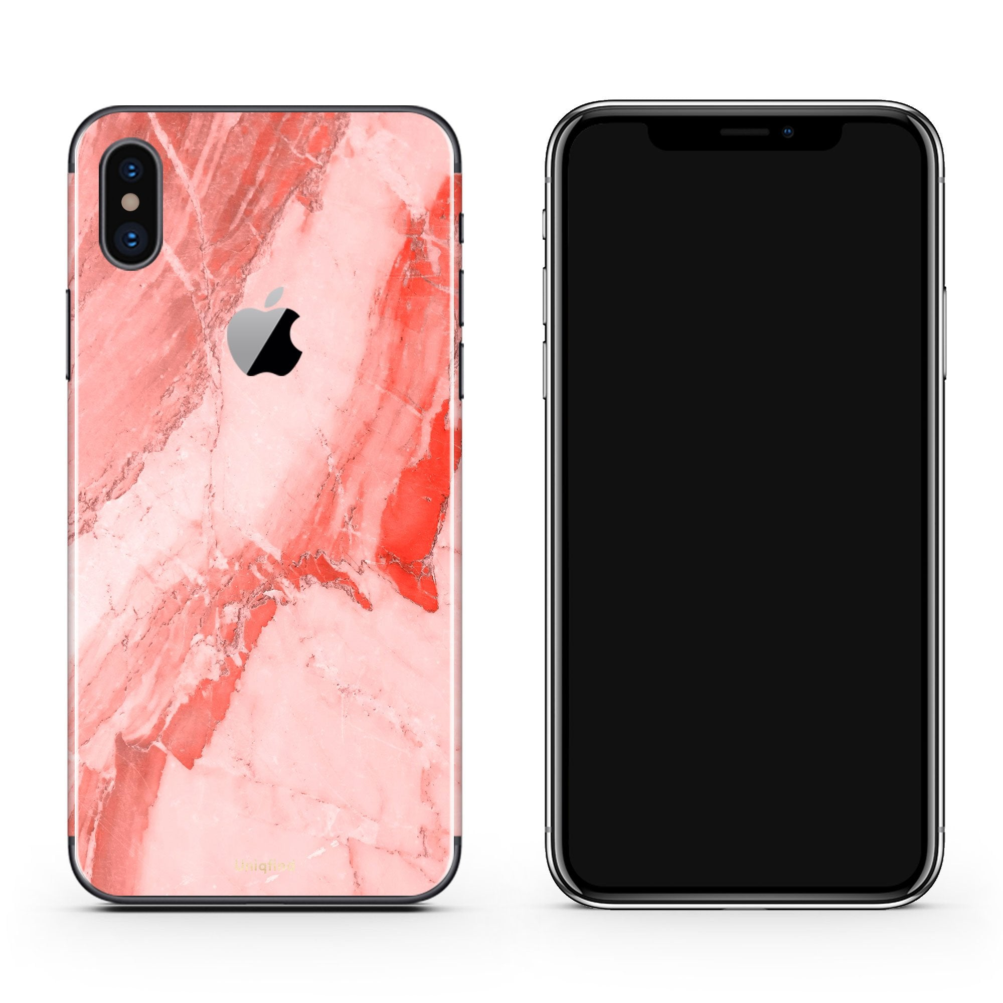 Coral Marble iPhone X Cover