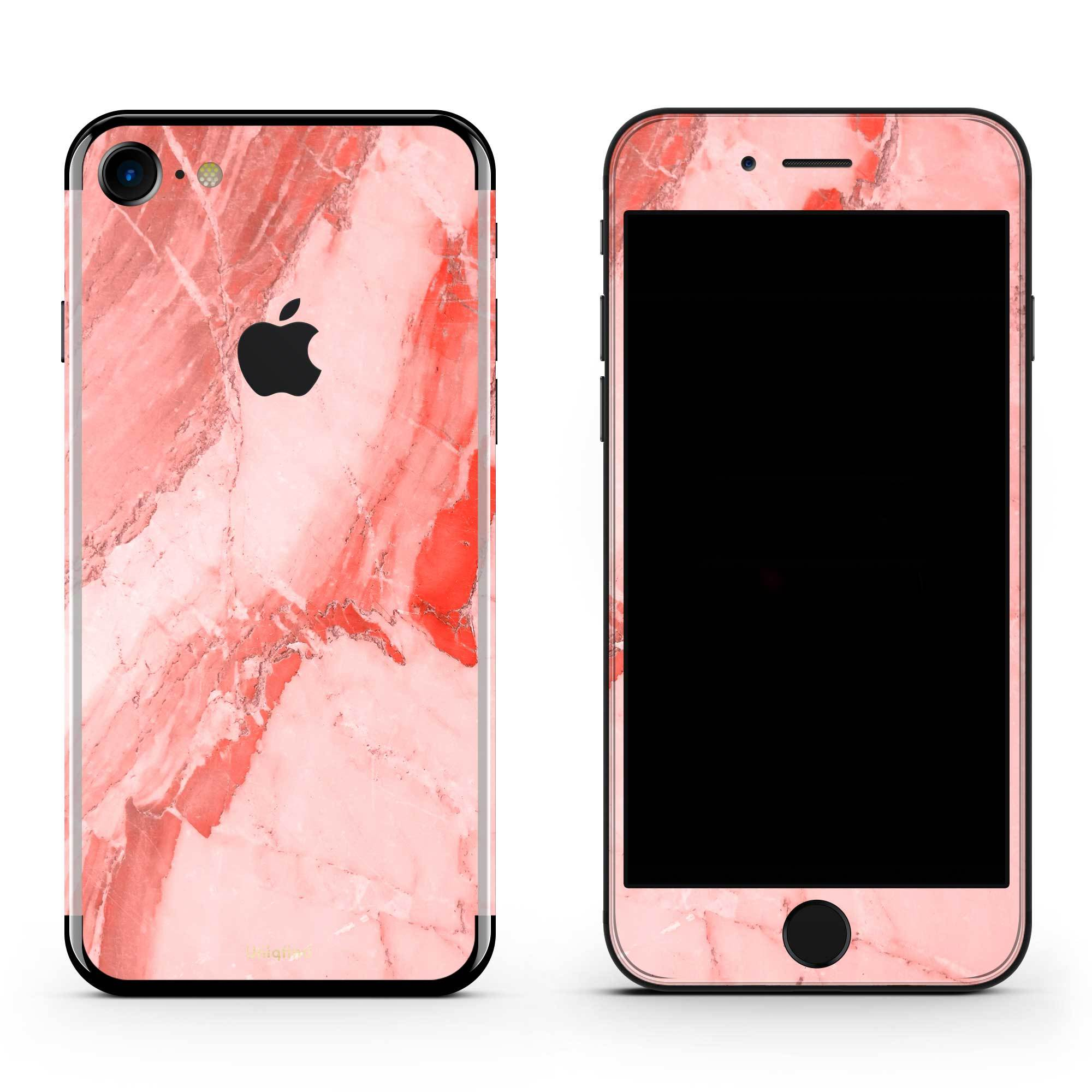 Coral Marble iPhone 8 Cover