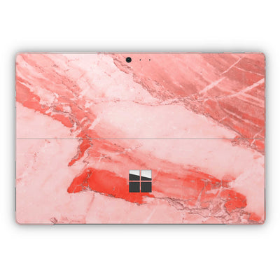 Coral Marble Surface Pro 5 and Surface Pro 6 Skin