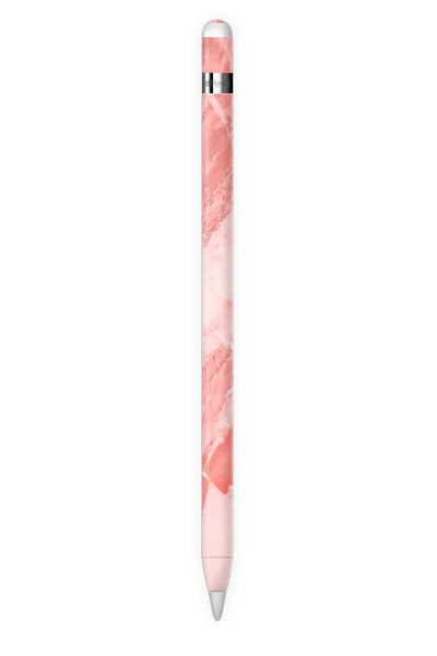 Coral Marble Apple Pencil Skin