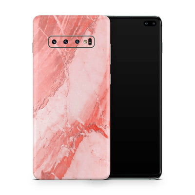 Coral Marble Skin Samsung S10 and S10 Plus and S10e