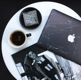 Black Marble Laptop Cover