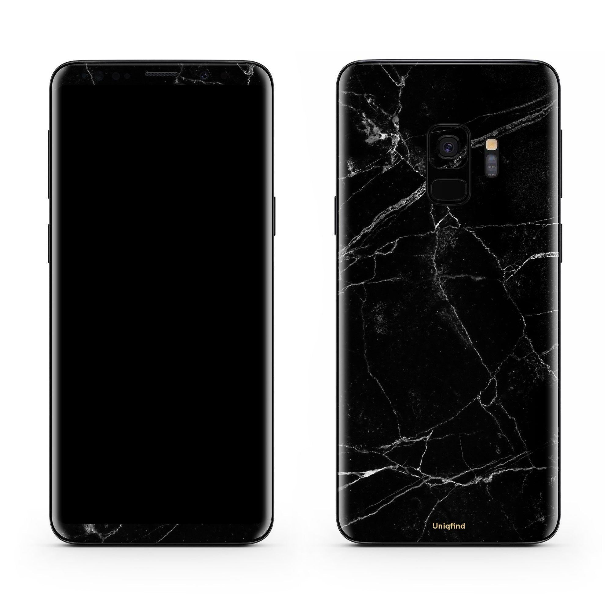 Black Marble Galaxy S9 Plus Skin + Case