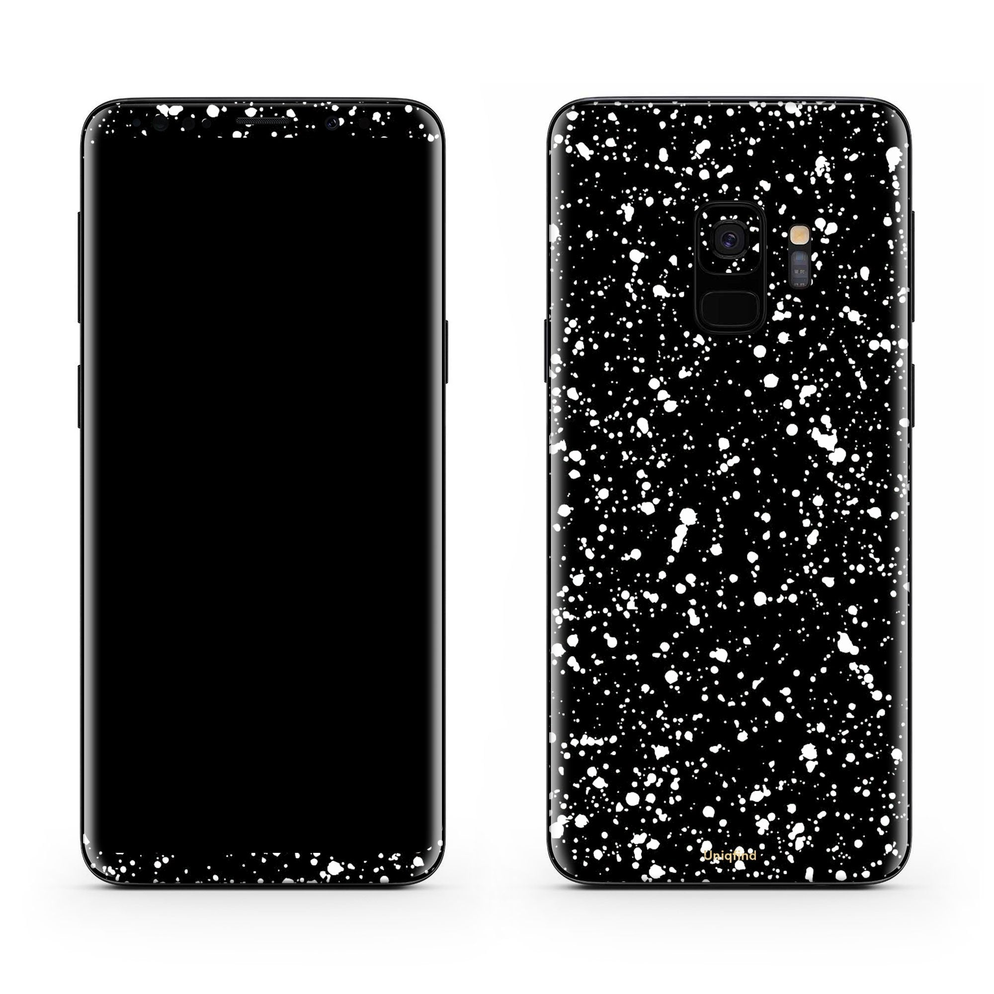 Black Speckle Galaxy S9 Plus Skin + Case