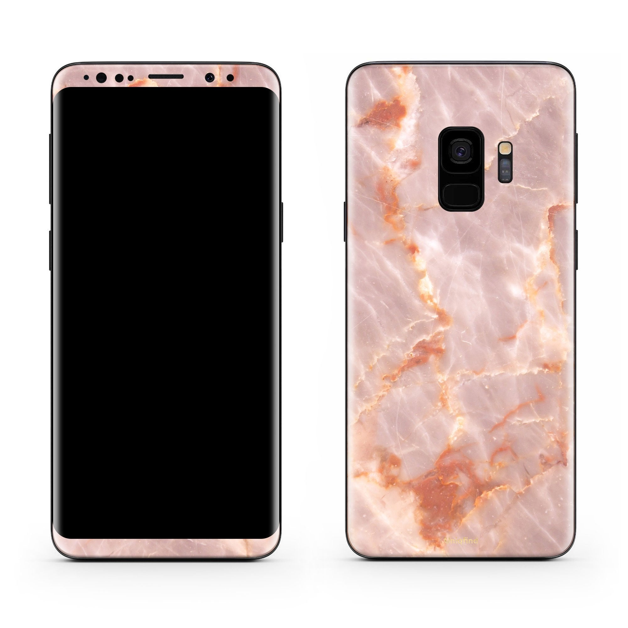 Blush Marble Galaxy S9 Skin + Case