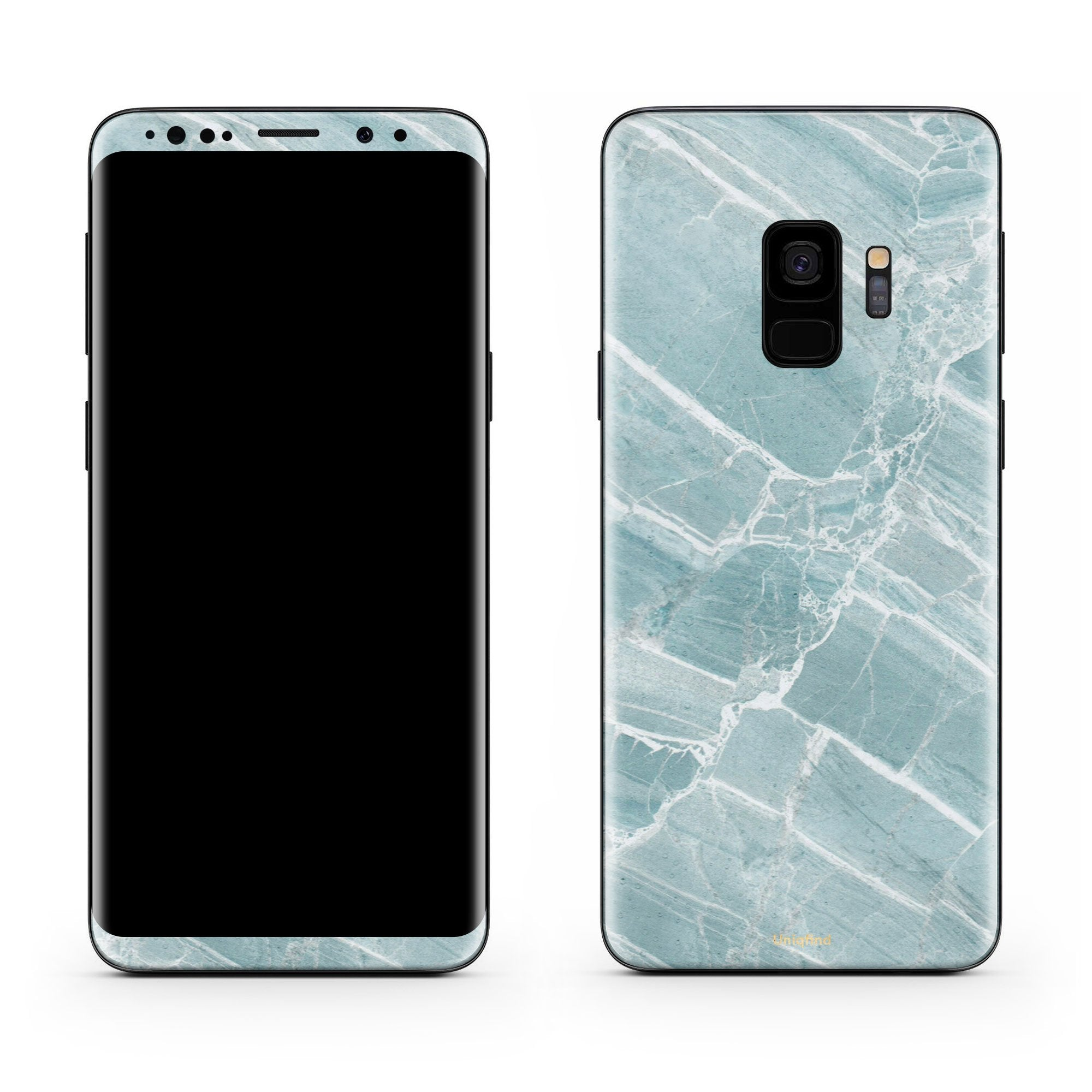 Mint Marble Galaxy S9 Plus Skin + Case