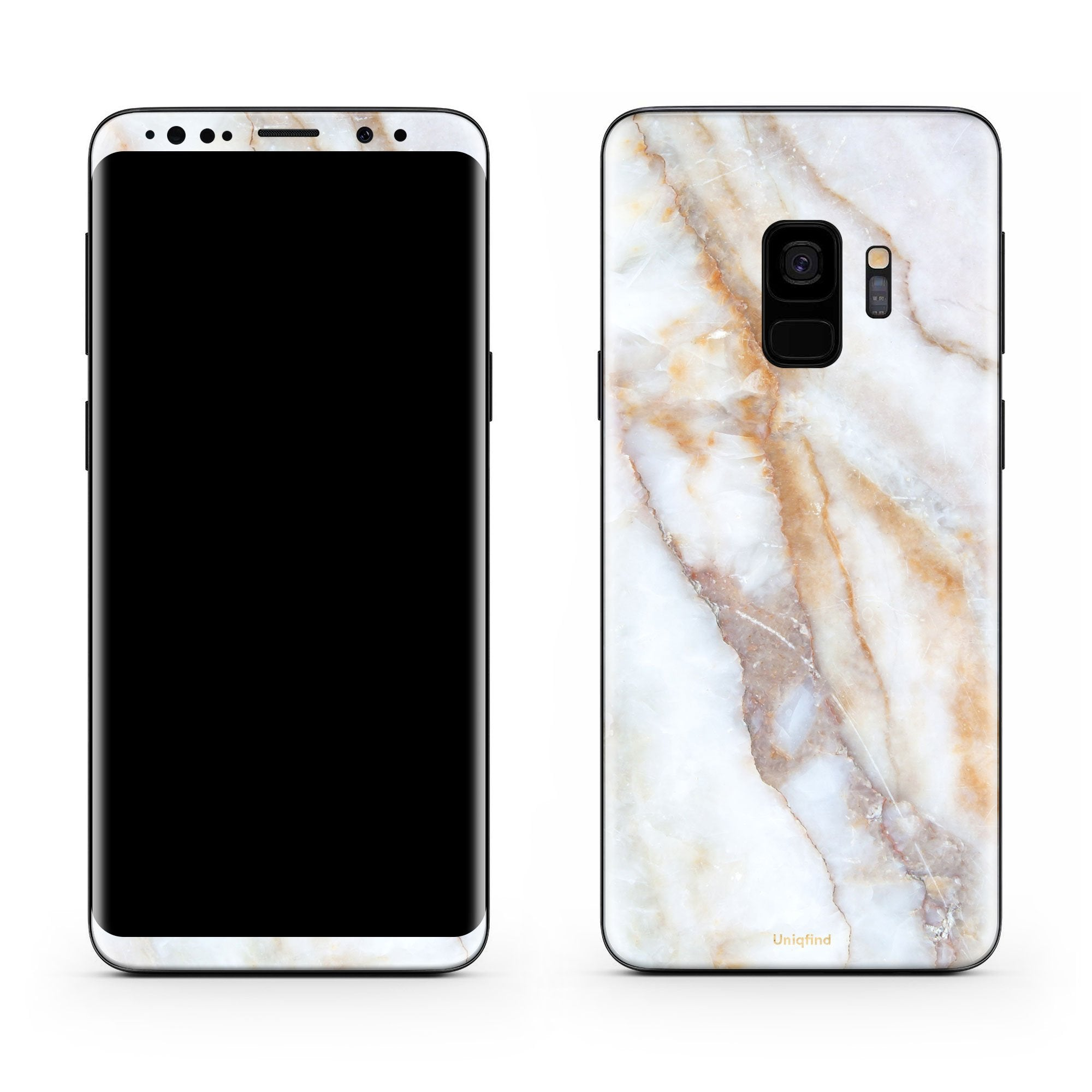 Vanilla Marble Galaxy S9 Plus Skin + Case