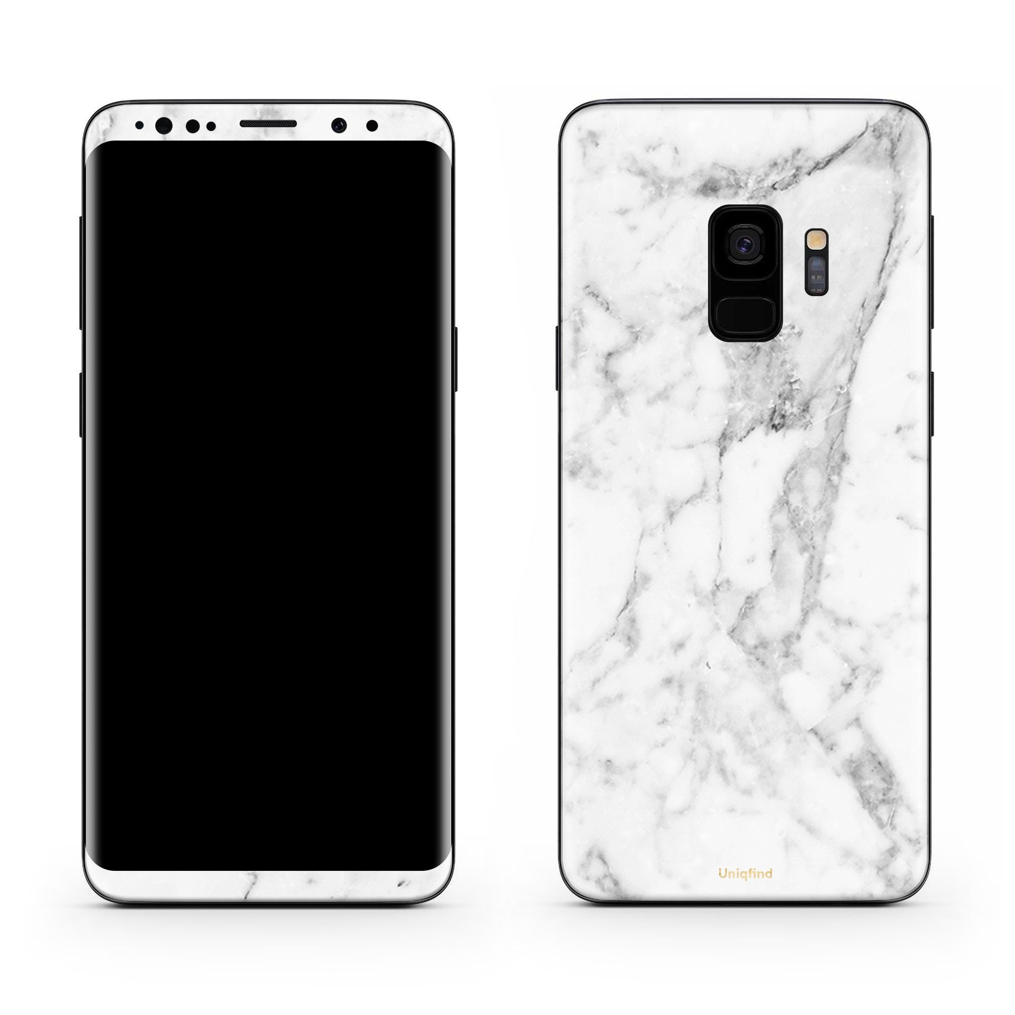 White Marble Galaxy S9 Plus Skin + Case
