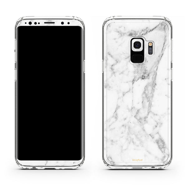 White Marble Galaxy S9 Skin Case