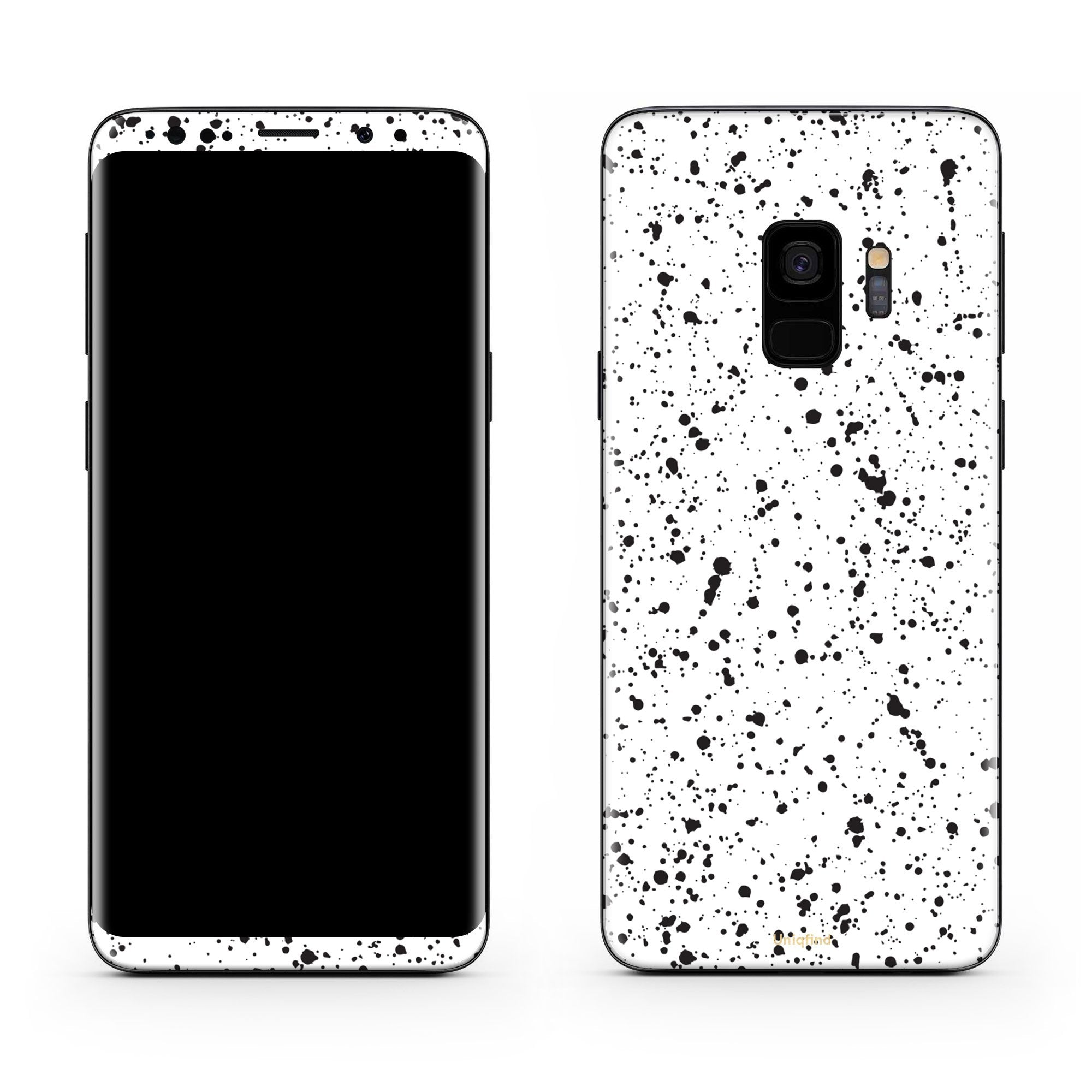 White Speckle Galaxy S9 Skin + Case