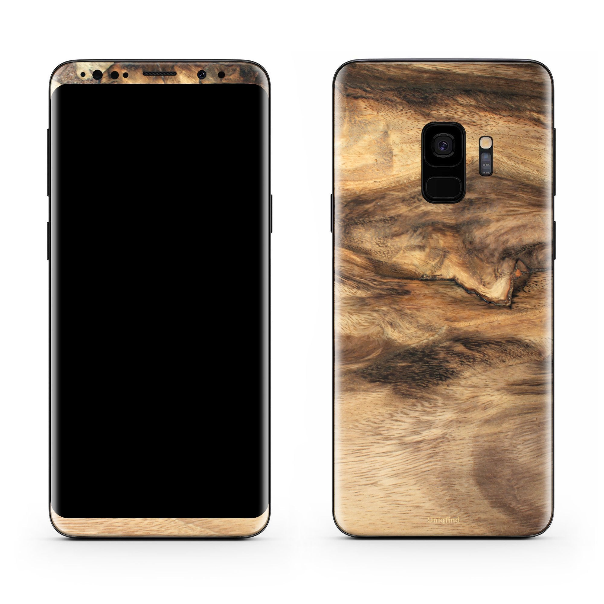 Wood Galaxy S9 Skin + Case