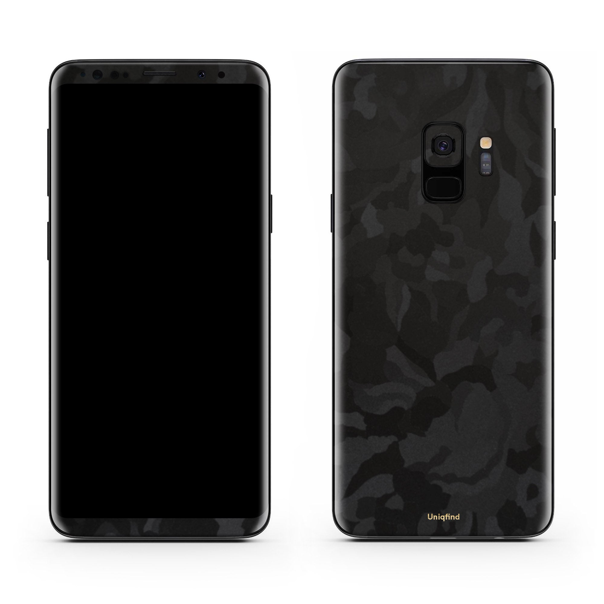 Black Camo Galaxy S9 Skin + Case