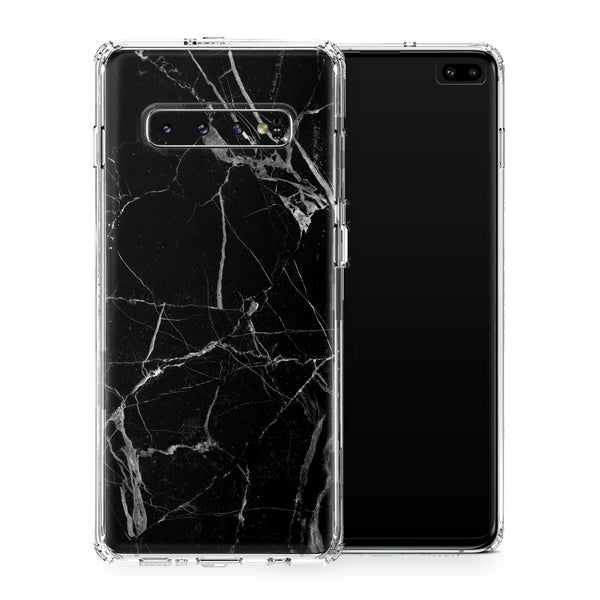 Black Hyper Marble Case for Galaxy S10 and S10 Plus and S10e