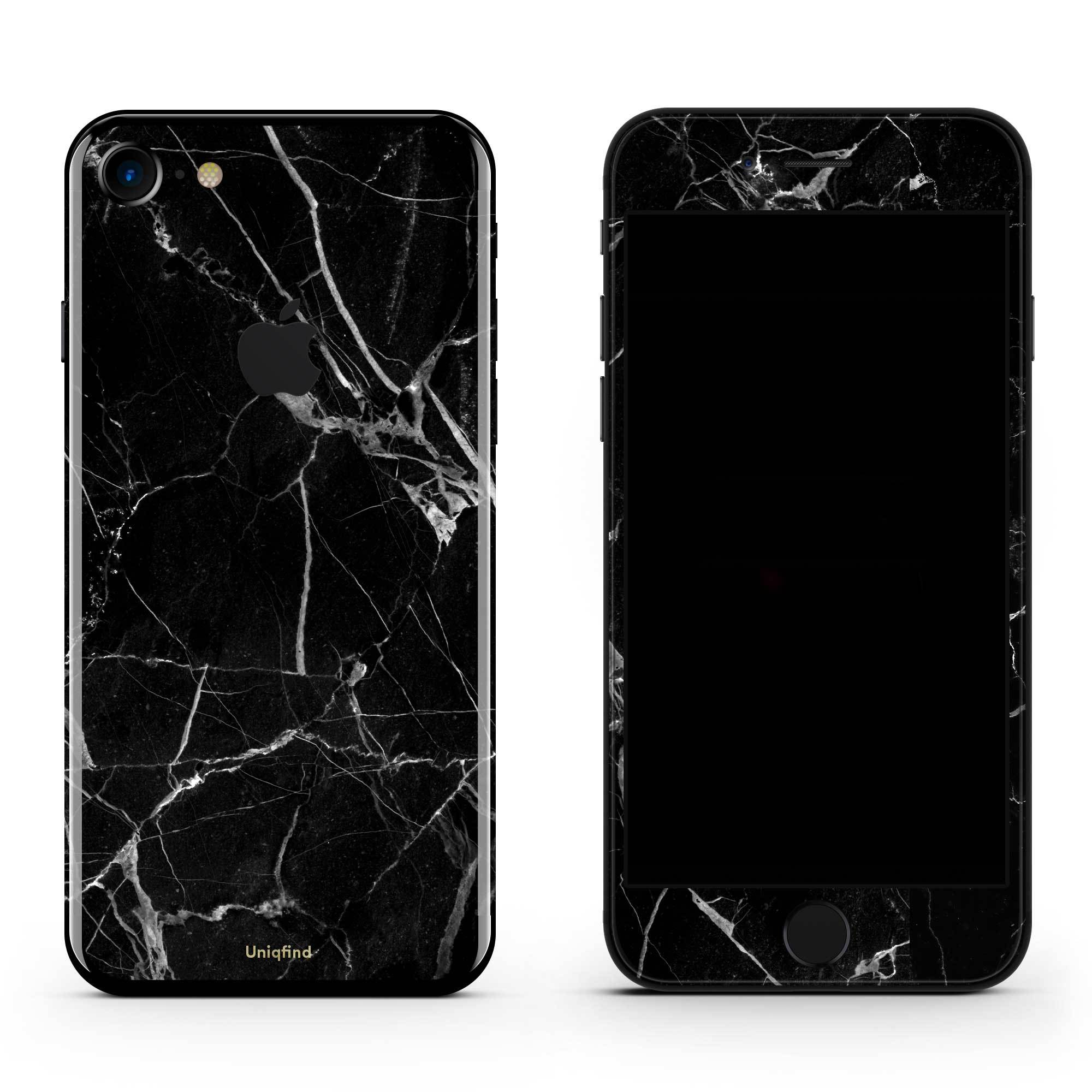 Black Hyper Marble iPhone 8 Skin + Case