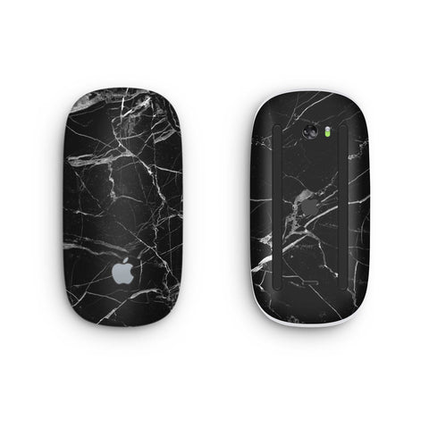 Black Hyper Marble Magic Mouse 2 Skin