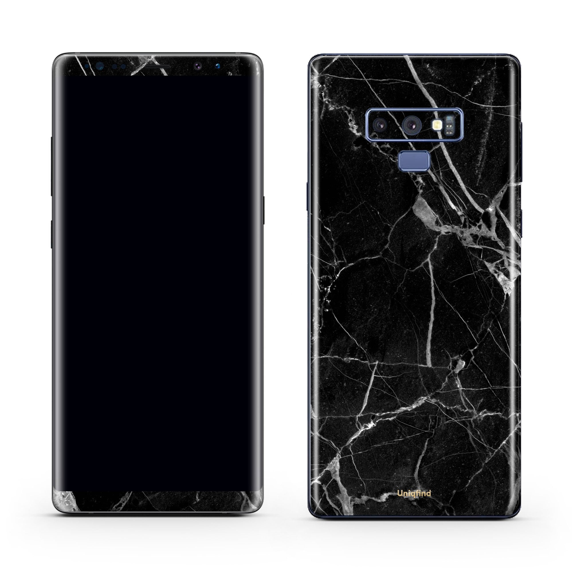 Black Hyper Marble Galaxy Note 9 Skin + Case