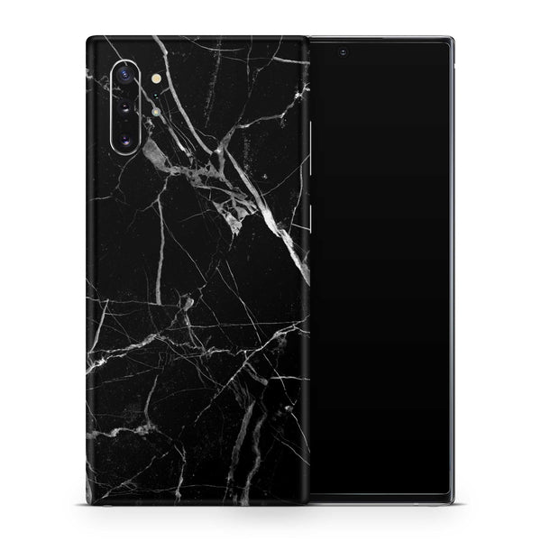 Black Hyper Marble Samsung Galaxy Note 10 Plus Skin