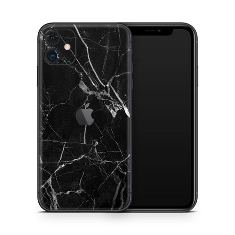 Black Hyper Marble iPhone 11 Skin