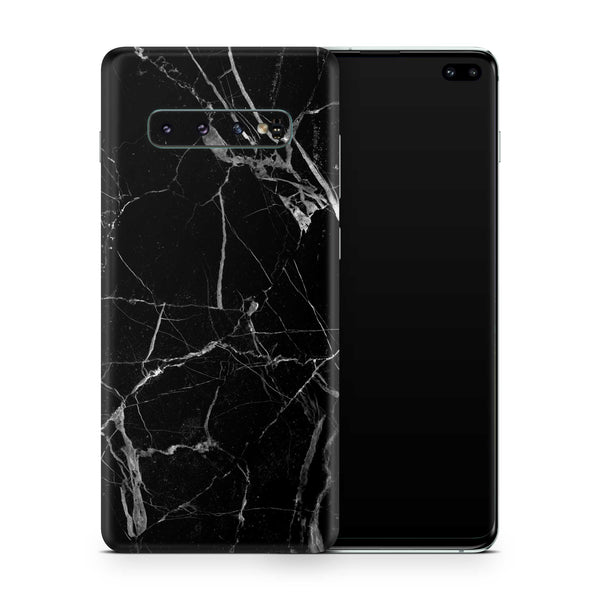 Black Hyper Marble Skin for Samsung S10 and S10 Plus and S10e
