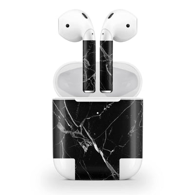 Hyper Black Marble Skin AirPods Wireless Charging Case