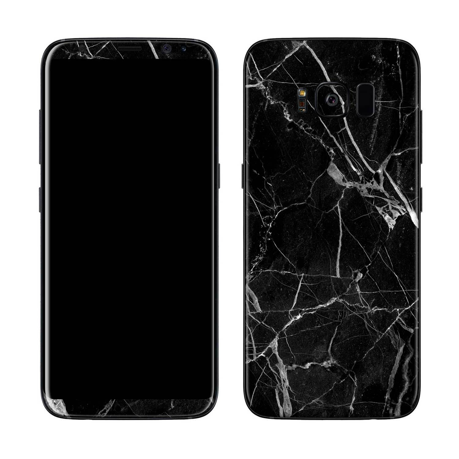 Black Hyper Marble Galaxy S8 Plus Skin + Case