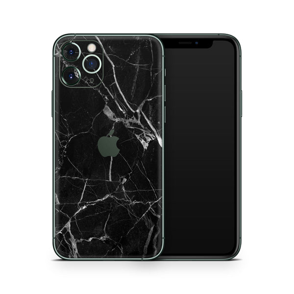 Hyper Black Marble Skin iPhone 11 Pro and 11 Pro Max