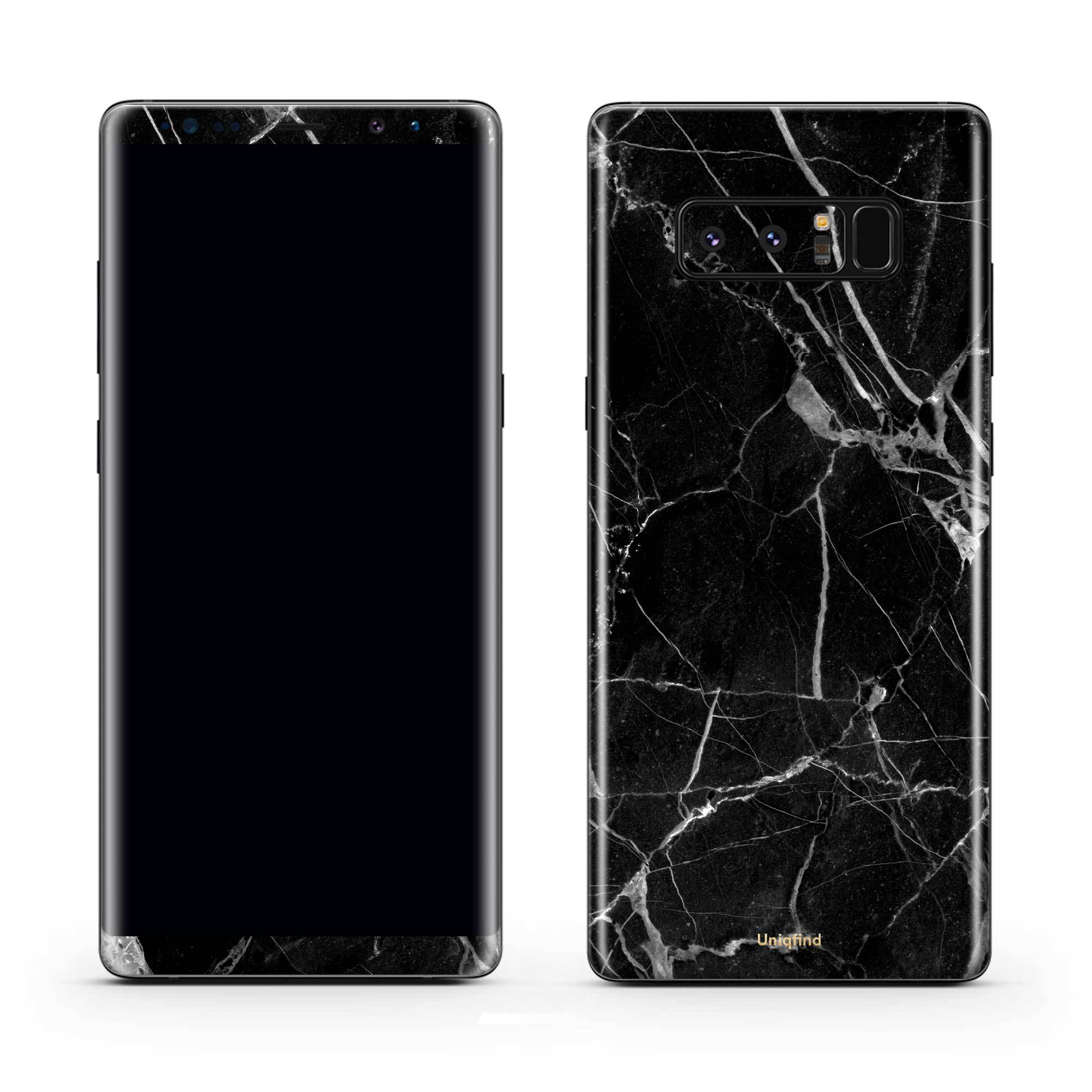 Black Hyper Marble Galaxy Note 8 Skin + Case