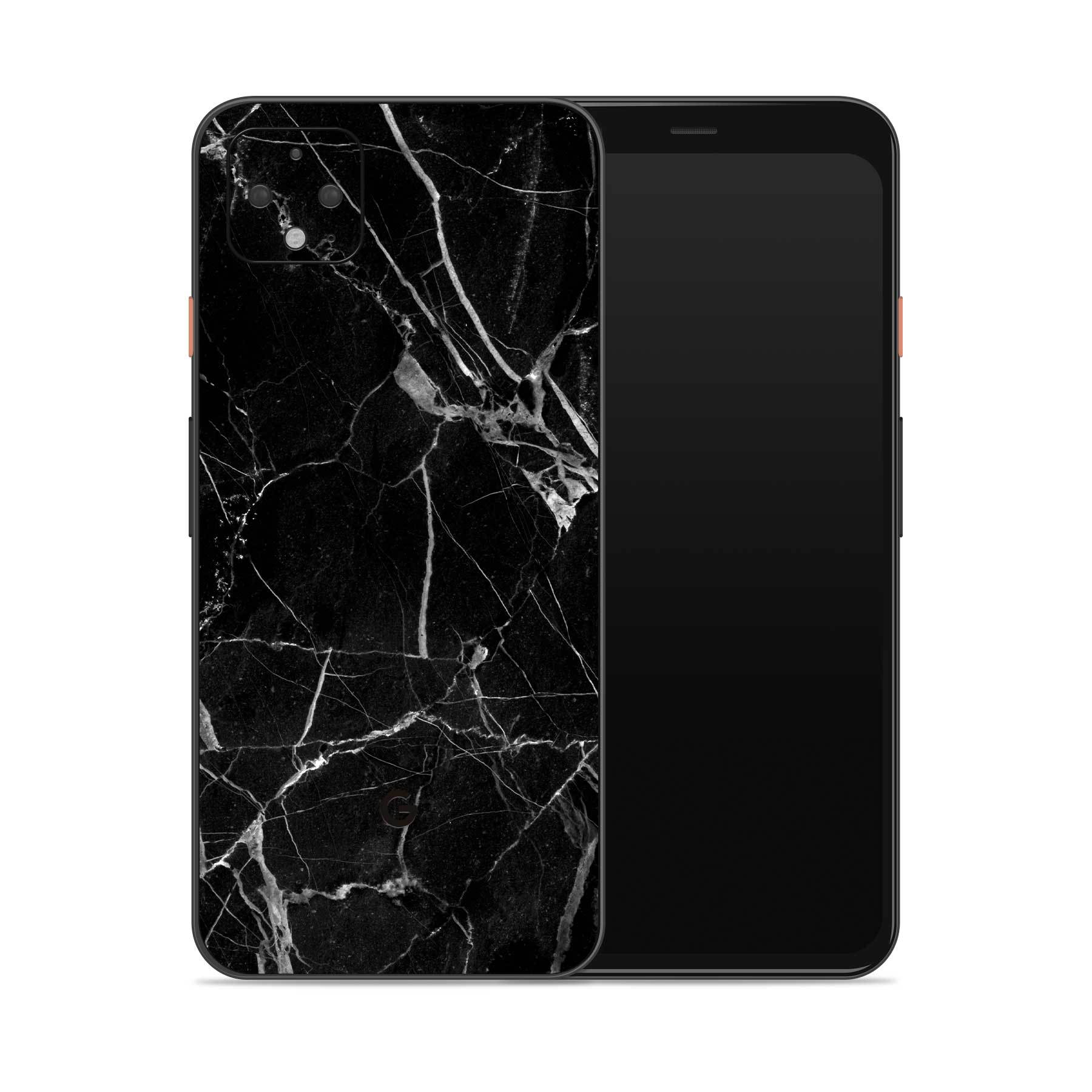Pixel 5 Cover Black Hyper Marble