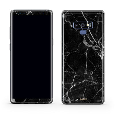 Black Hyper Marble Galaxy Note 10 Plus Skin + Case