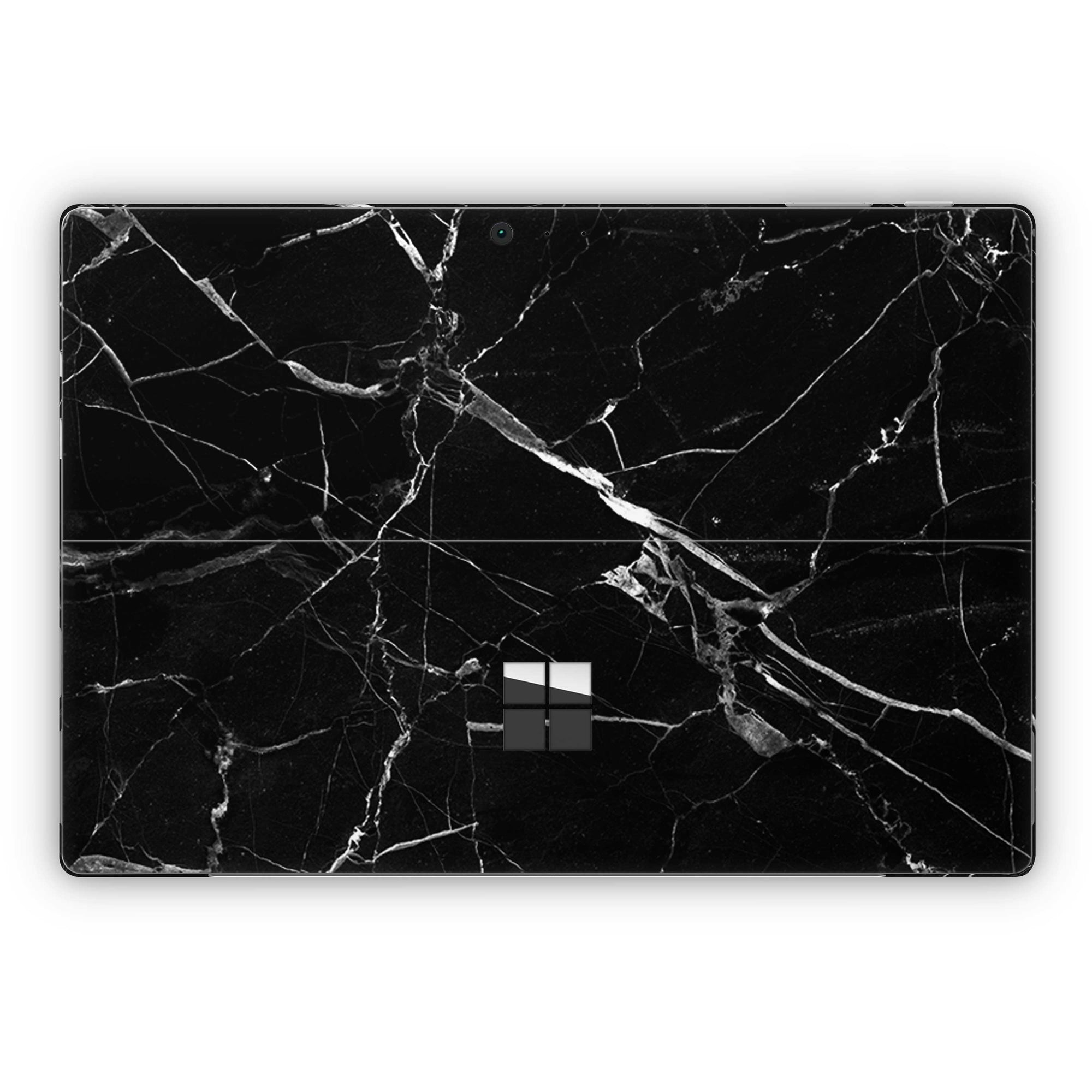Black Hyper Marble Surface Pro 5 and Surface Pro 6 Skin