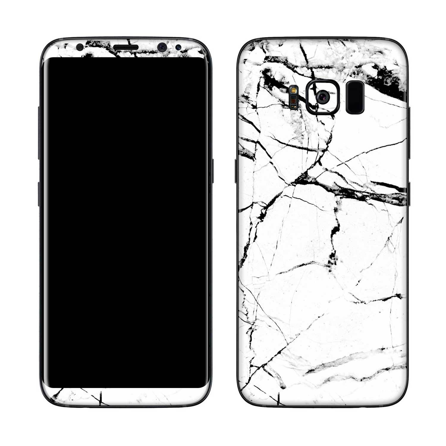 White Hyper Marble Galaxy S8 Plus Skin + Case