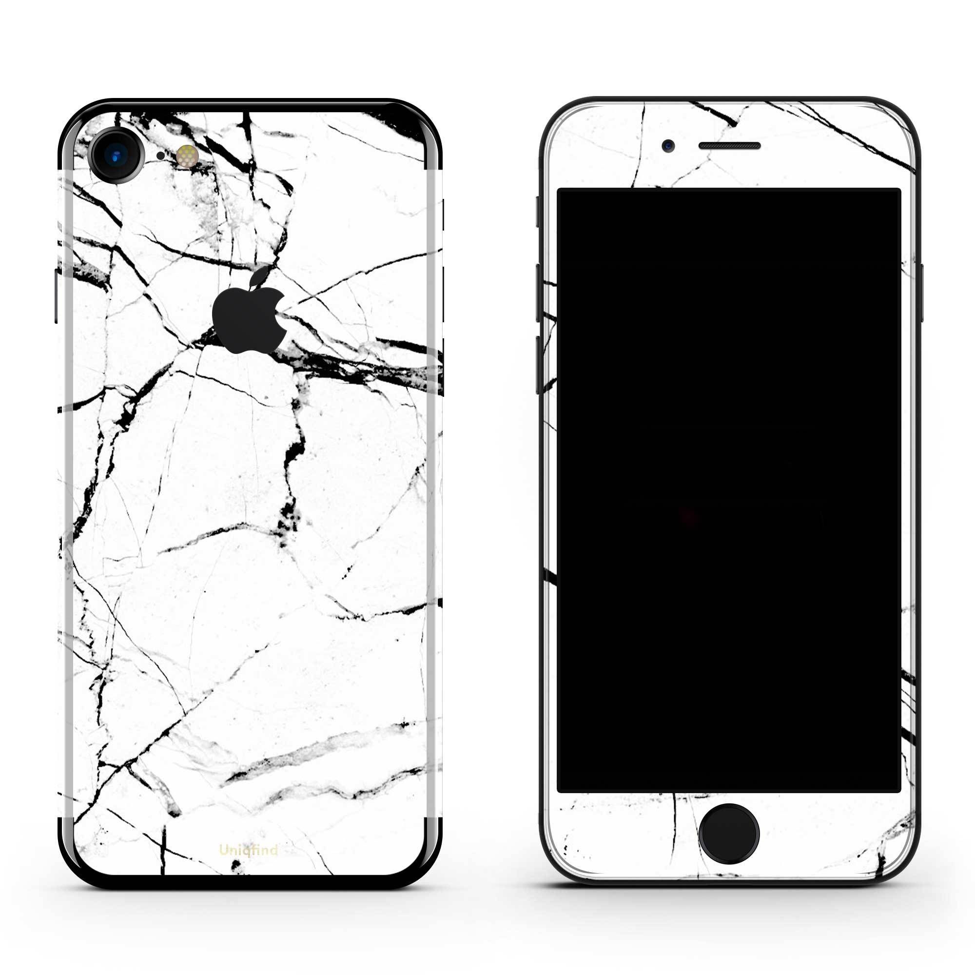 White Hyper Marble iPhone 8 Skin + Case