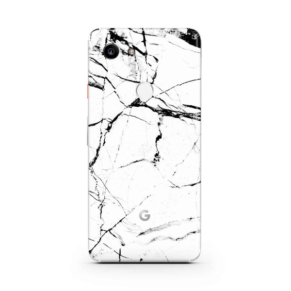 White Marble Pixel Cases