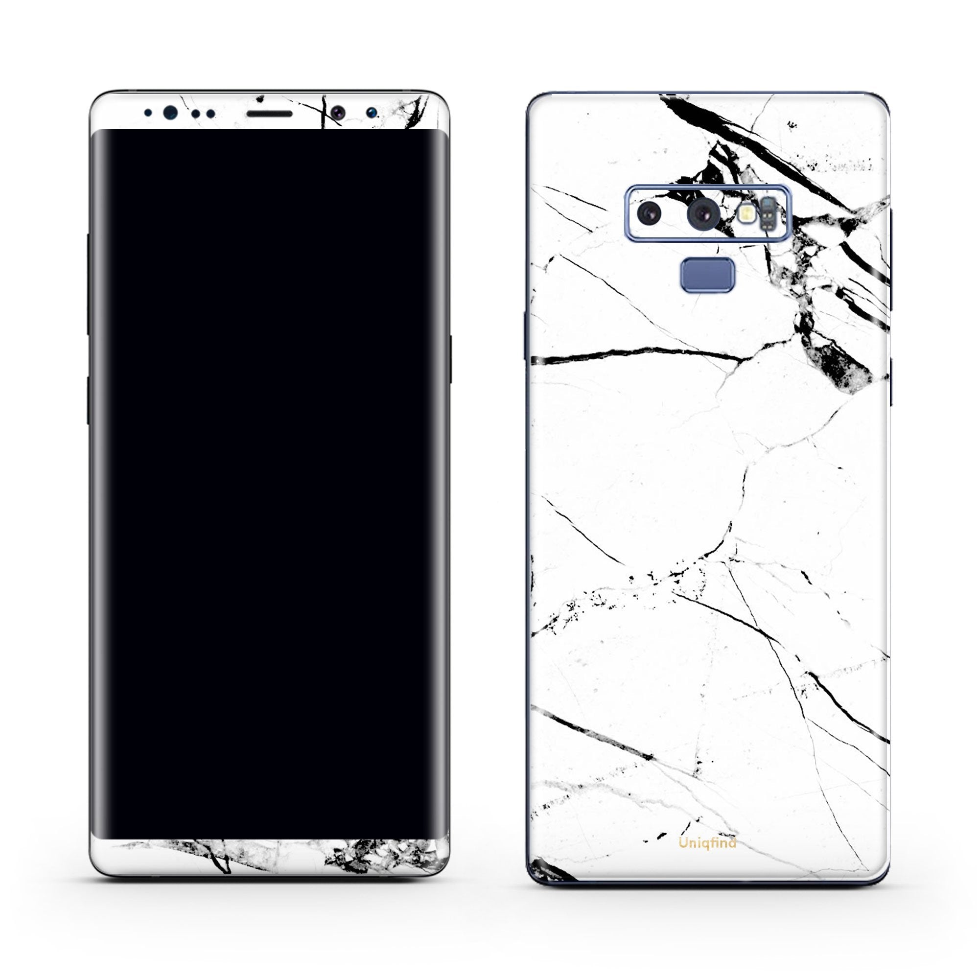 White Hyper Marble Galaxy Note 9 Skin + Case