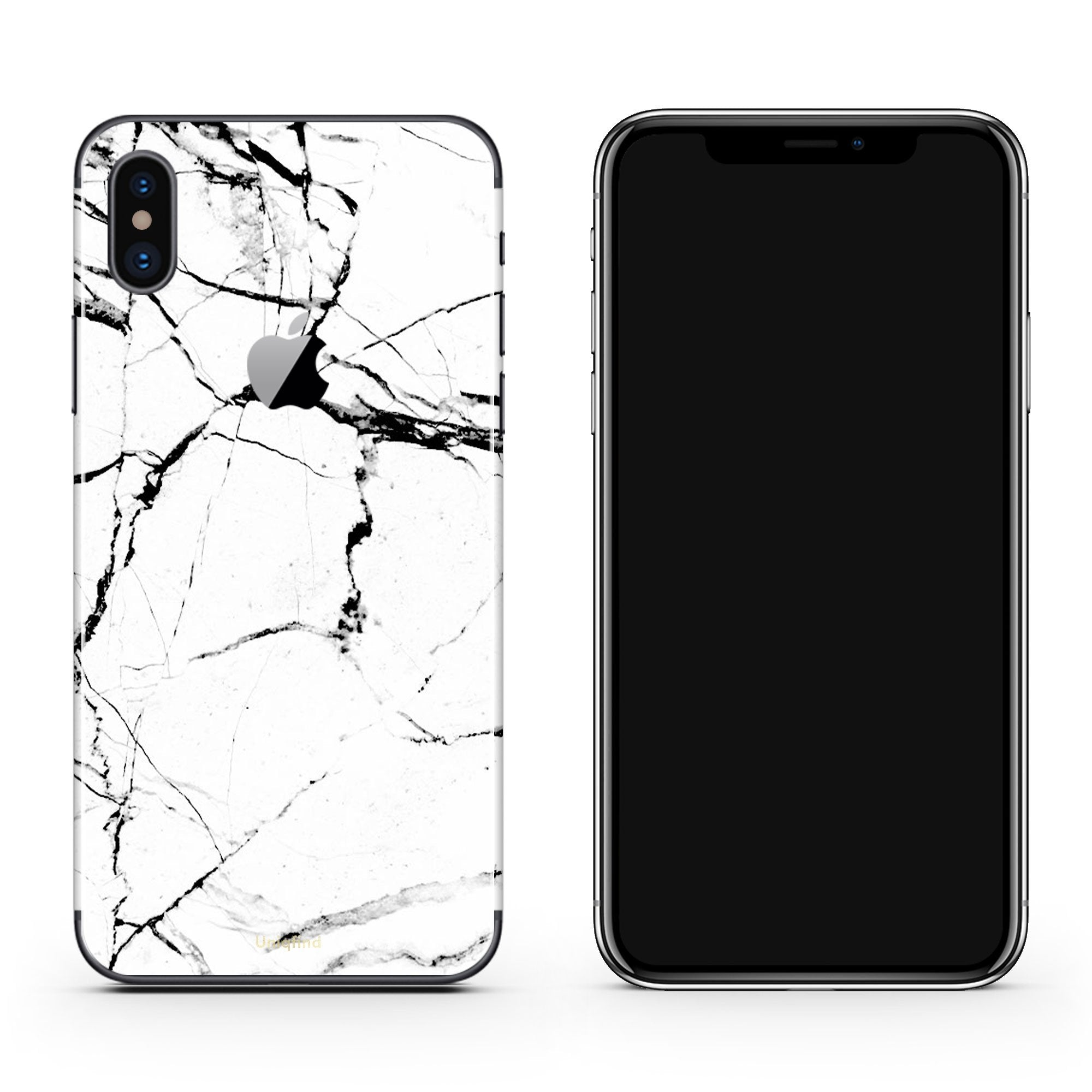 White Marble iPhone X Cover