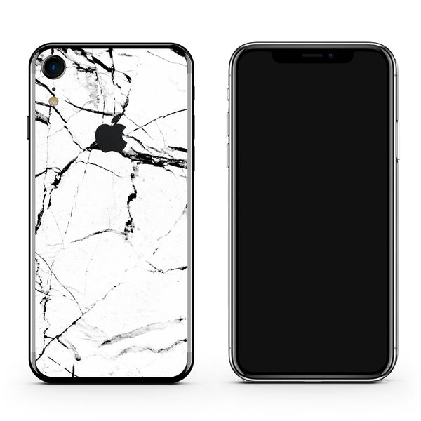 iPhone X Plus Skin in Hyper White Marble