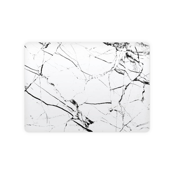 White Hyper Marble Magic Trackpad 2 Top and Bottom Skin
