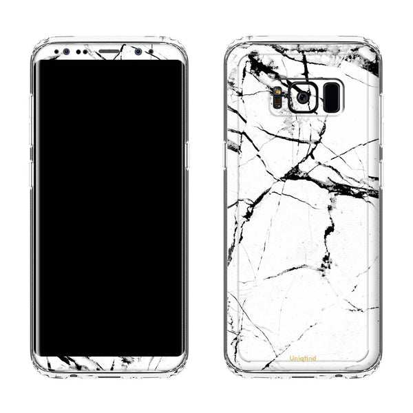 Galaxy S8 Hyper White Marble Case