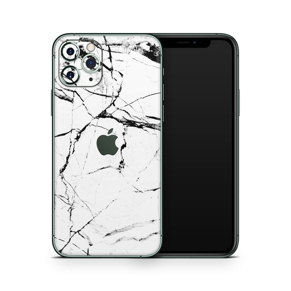 White Hyper Marble iPhone 11 Pro Skin