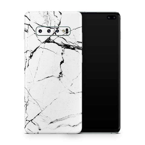 White Hyper Marble Samsung S10 and S10 Plus and S10e
