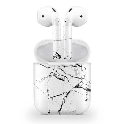 White Hyper Marble AirPods (No Wireless Charging) Skin